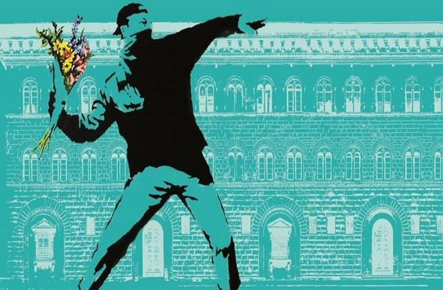 Banksy in mostra a Firenze (dal sito di palazzo Medici Riccardi)