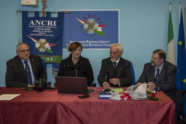Da sinistra Romeo Claudio Negromonti-Tini, Annalisa Del Bello, Tommaso Bove,Francesco Avena