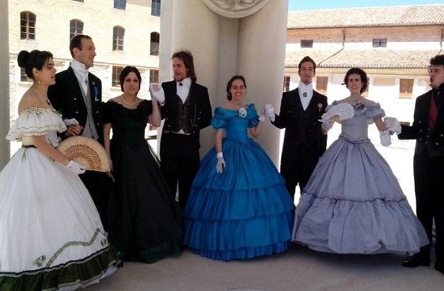 Un incontro dell'Accademia danze ottocentesche
