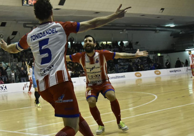 Il capitano dell'Italservice Pesaro Felipe Tonidandel