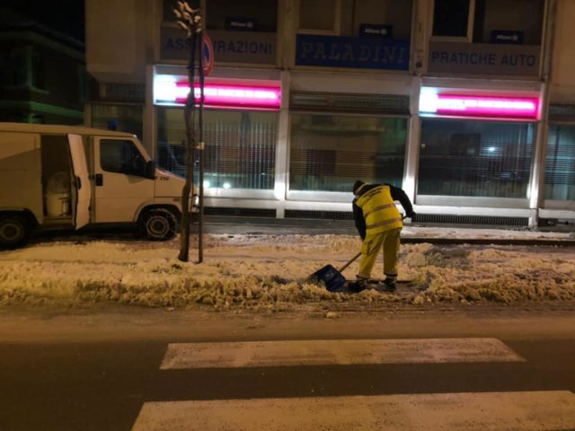 Dopo una notte di gelo, la situazione tende alla normalità a Fabriano