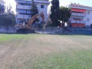 Lavori allo stadio a Marzocca di Senigallia
