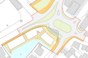 La mappa dell'area all'incrocio della Penna a Senigallia, tra viale IV Novembre, viale Leopardi e via Podesti