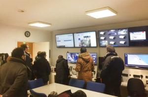 La visita alla nuova sala del Centro operativo comunale (COC) di Senigallia