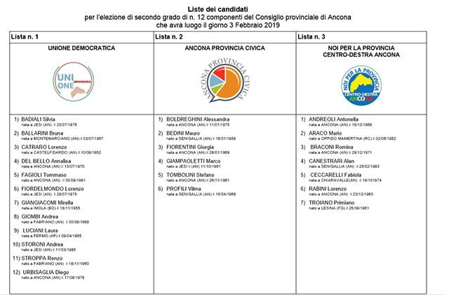 Elezioni per il consiglio provinciale di Ancona: i candidati e le liste