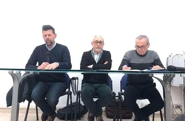 Da sinistra: Maurizio Mangialardi, Luigi Rebecchini e Stefano Morganti in Commissione