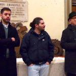 """Franceschini, Storoni e Carli durante l'inaugurazione a Ostra della mostra """"Sulle orme del poeta"""""""