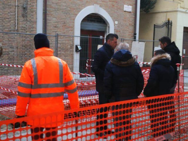 Sopralluogo della Sovrintendenza in via San Martino