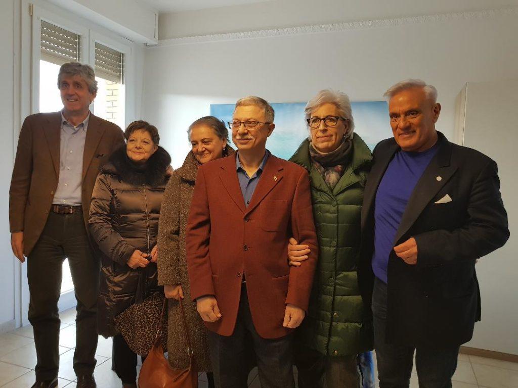 Sa sinistra Fabio Sturani, Rita Materazzi, Valeria Mancinelli, Carlo Rossi, Emma Capogrossi e Michele Caporossi