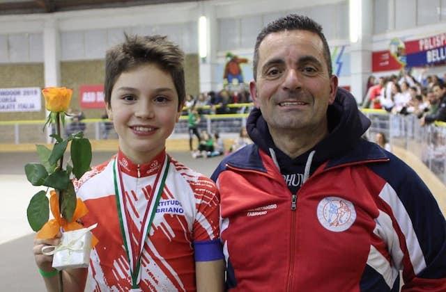 Cristian Scassellati con l'allenatore Patrizio Fattori