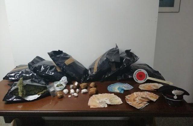 Il materiale sequestrato