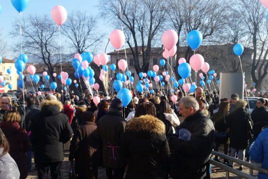 La manifestazione in difesa del Punto nascita di Fabriano