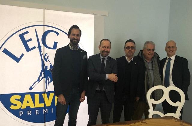 Da sinistra: Luca Natalucci, il senatore Paolo Arrgoni, Milco Mariani, Sandro Zaffiri e Tullio Patassini