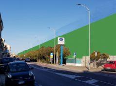 """Rendering delle barriere antirumore (Foto: Comitato """"No al muro, Sì al mare"""")"""