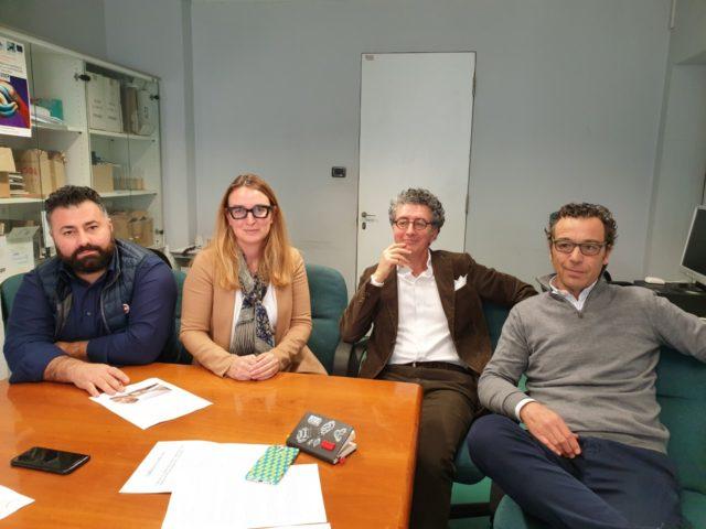 Da sin. Diego Urbisaglia, Roberta Montalbini, Marco Nocchi, Michele Polenta