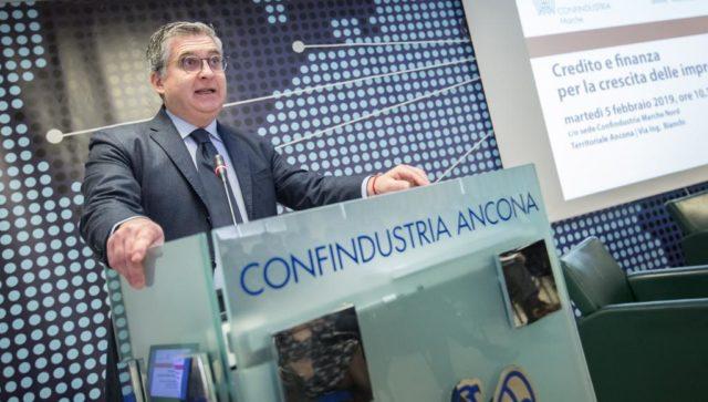 L'intervento di Claudio Schiavoni, presidente di Confindustria Marche
