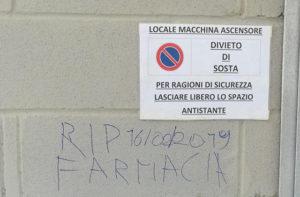 La scritta trovata sul muro