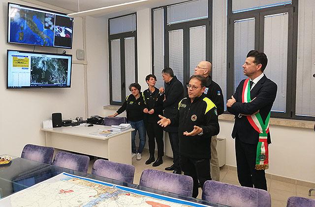 La presentazione della nuova sede del Centro Operativo Comunale di Senigallia