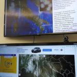 Gli schermi per il monitoraggio della situazione meteo
