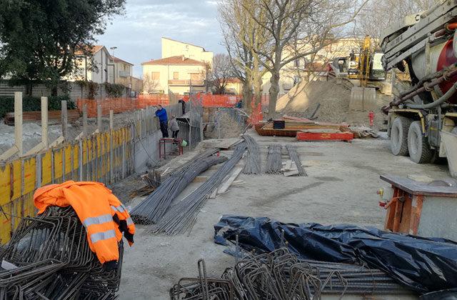 I lavori per il nuovo sottopasso alla Cesanella di Senigallia