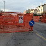 Il cantiere sulla statale alla Cesanella di Senigallia
