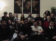 Gli amici di Lorenzo che hanno organizzato l'iniziativa