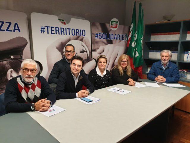 Da sin. Massimo Meles, Angelo Eliantonio, Stefano Tombolini, Teresa Dai Prà, Antonella Andreoli, Daniele Berardinelli