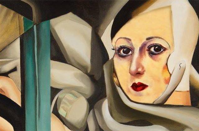 """La locandina della mostra """"Millevolti – nove artisti reinterpretano le opere di Nori De' Nobili"""""""