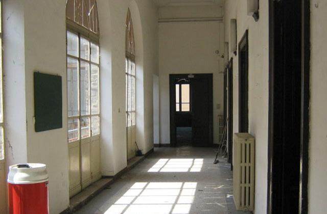 Uno dei corridoi di palazzo Gherardi a Senigallia, fino al 2001 sede del liceo classico Perticari