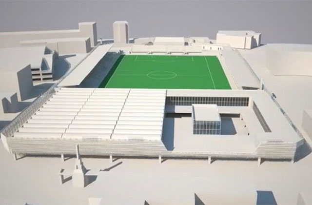 """Il progetto per una palestra e un centro commerciale nell'area dell'antistadio, all'interno del comunale """"Bianchelli"""""""