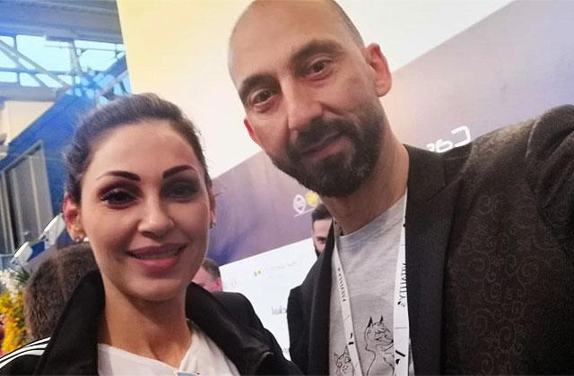 Roberto Acquaroli con Anna Tatangelo