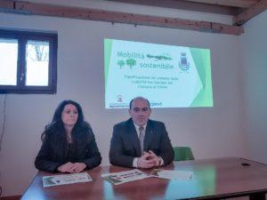 L'assessora Michela Glorio e Simone Pugnaloni