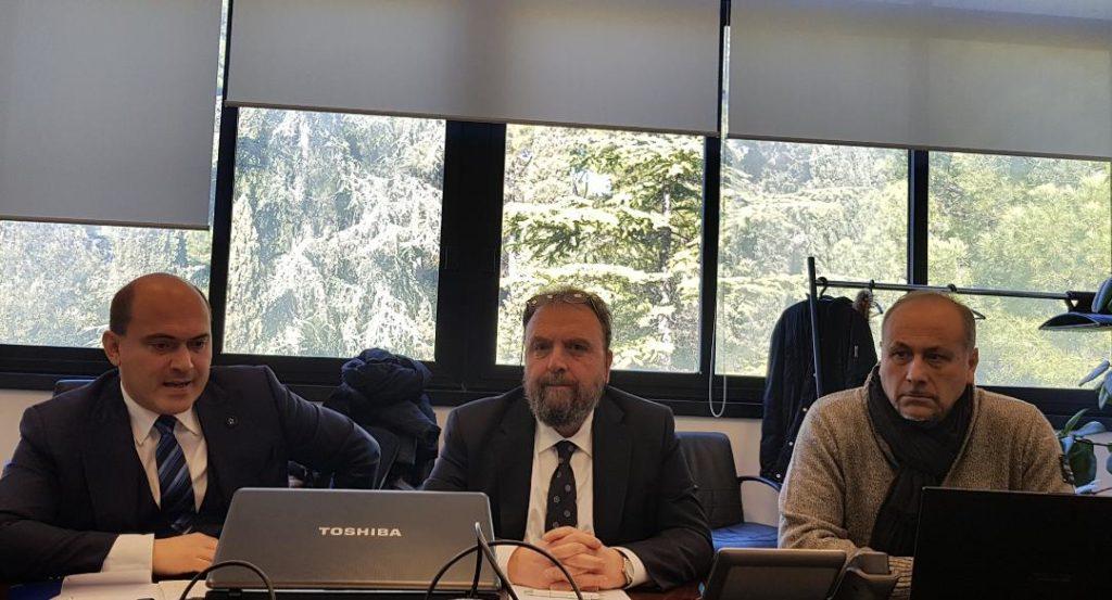 Da sinistra Simone Pugnaloni, Fabio Marchetti e Danilo Salvi