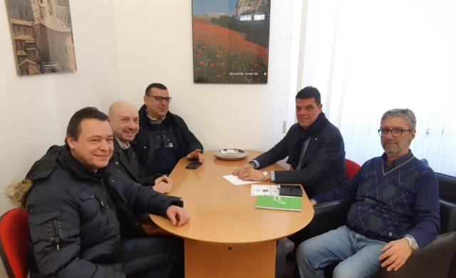 Da sinistra Alessandro Bufarini, Marco Girolimini, Paolo Andreucci. A destra Boris Rapa e Maurizio Cionfrini