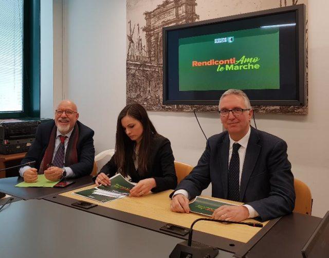 Luca Ceriscioli, Manuela Bora e Pietro Talarico