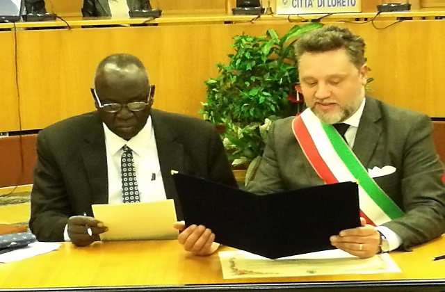 Loreto, il Comune stringe il patto di amicizia con Juba