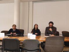 Da sin. Rosaria Ercoli (Fondazione Cluster Marche), l'assessora regionale Manuela Bora, e Marco Cardinaletti (Eurocube)