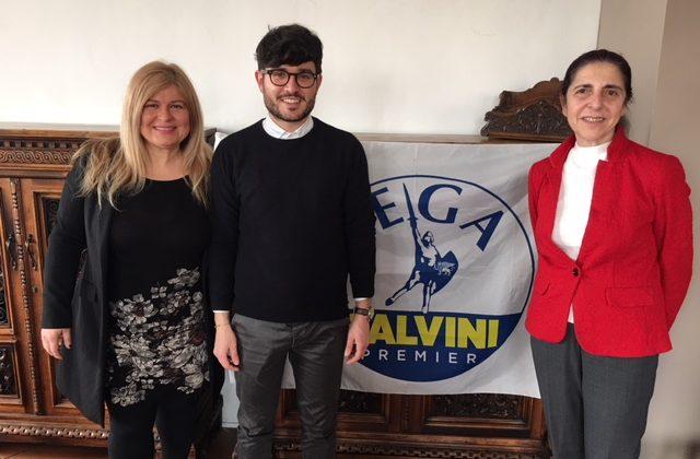 Il Gruppo consiliare della Lega. Da sinistra, Antonella Andreoli, Marco Ausili e Maria Grazia De Angelis