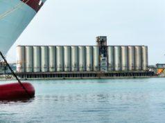 I silos nel porto di Ancona