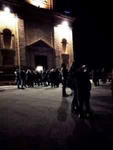 La chiesa di Sant'Agostino non è riuscita a contenere tutti per la veglia