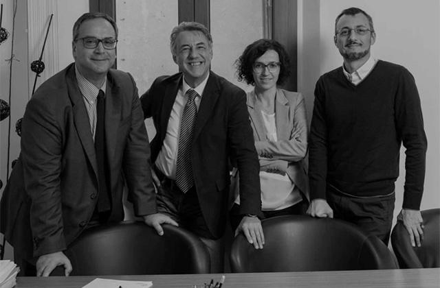I fondatori di AltoValore: Paolo Bolli, Pierluigi Milantoni, Gloria Bussolotto e Matteo Scaccia