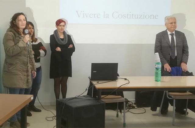 Vito D'Ambrosio all'incontro a Trecastelli promosso dall'Anpi