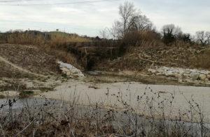 Il fosso del Sambuco, zona Molino Marazzana di Senigallia