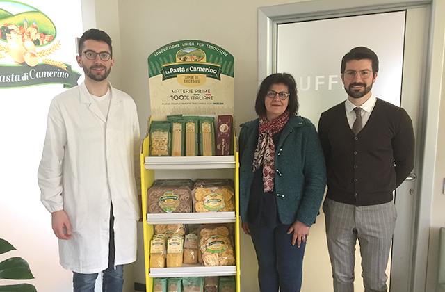 La presidente Cia Mirella Gattari in visita alla Pasta di Camerino