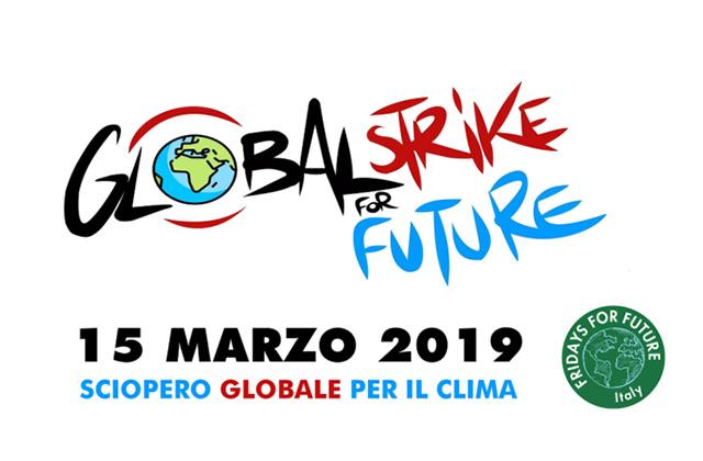 La locandina del Global Strike for Future, lo sciopero per il clima promosso per il 15 marzo in tutto il mondo