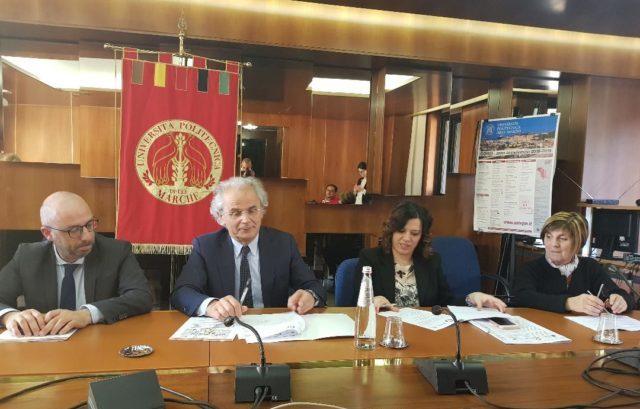 Da sinistra Antonio Mastrovincenzo, Sauro Longhi, Meri Marziali e Maria Giovanna Vicarelli