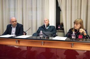 Da sinistra Antonio Mastrovincenzo, Roberto Frullini e Simonetta Sagrati