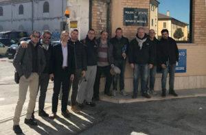 I rappresentanti sindacali degli agenti del XIV Reparto Mobile di Senigallia