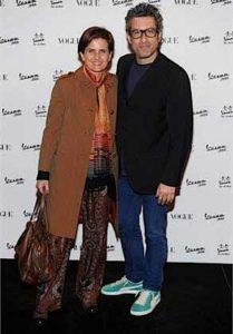 Jordan Stone con la moglie stilista Marina Spadafora