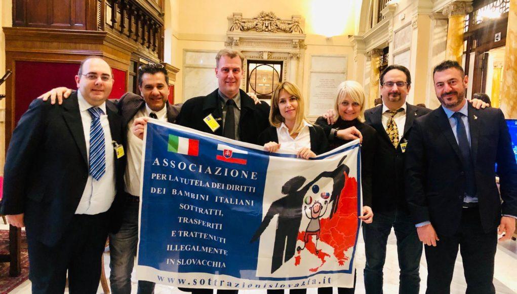 L'incontro a Roma. Marco Di Marco al centro insieme all'onorevole Giorgia Latini